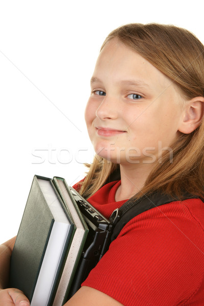 Stock photo: young girl going to school
