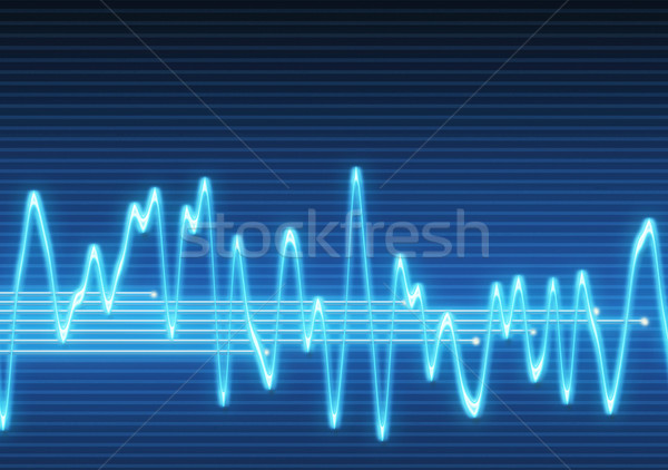 Stock photo: electronic sine sound wave
