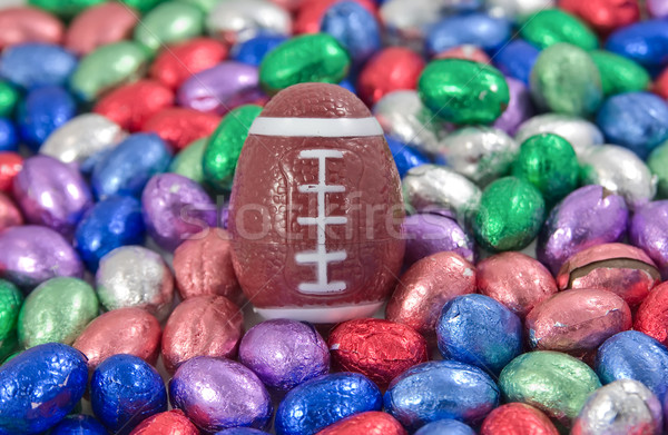 gridiron, rugby, football egg amongst other easter eggs Stock photo © clearviewstock