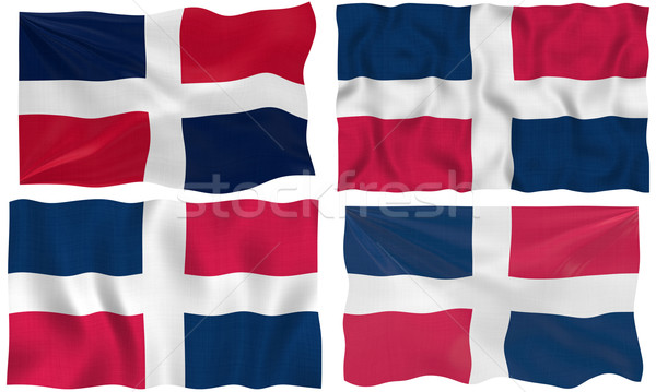 Flag of dominican republic Stock photo © clearviewstock