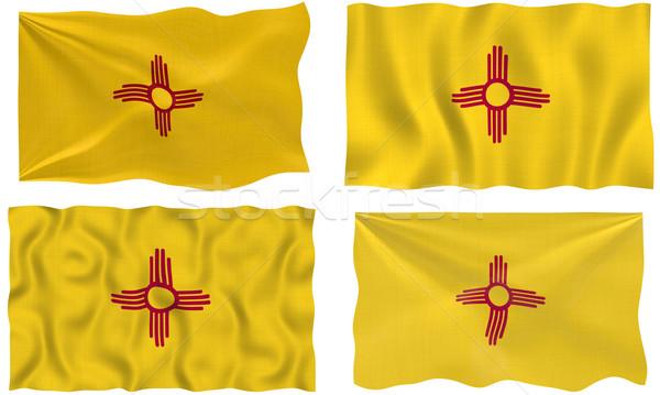 флаг Нью-Мексико изображение ткань Сток-фото © clearviewstock