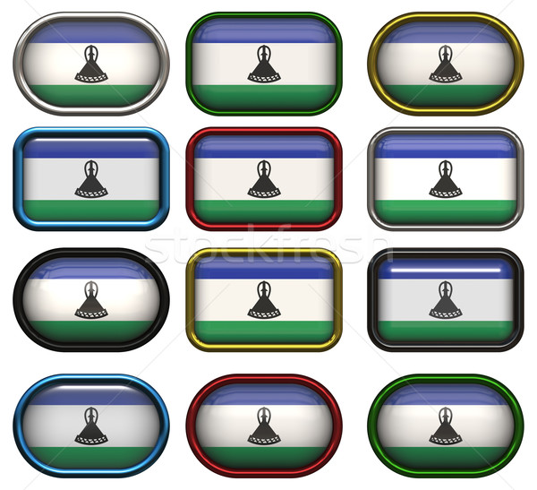 twelve buttons of the Flag of Lesotho Stock photo © clearviewstock
