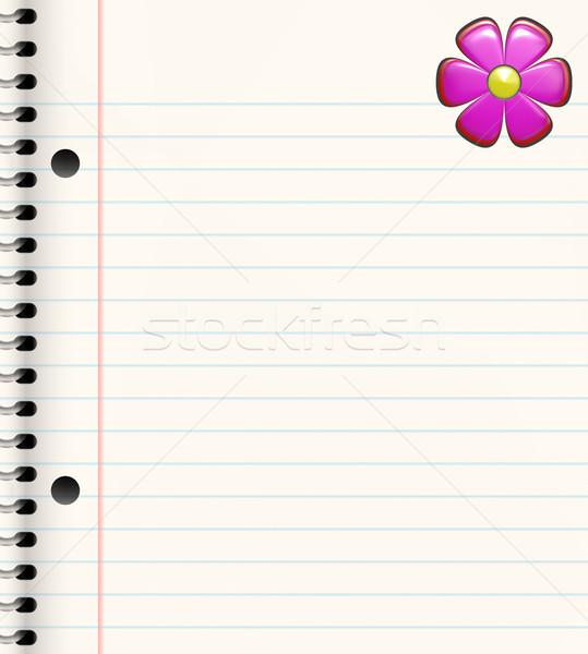 Livre fleur spirale lumineuses fleur rose coin Photo stock © clearviewstock