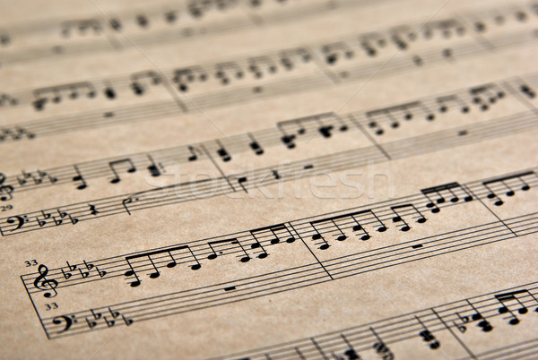 musical notes on parchment Stock photo © clearviewstock