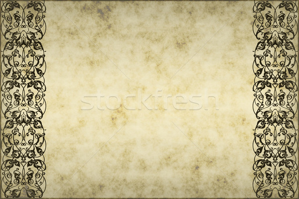 Pergamino edad áspero papel pergamino floral Foto stock © clearviewstock
