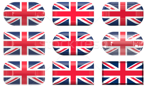 nine glass buttons of the Flag of the United Kingdom Stock photo © clearviewstock