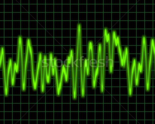Audio hullám kép izzó terv technológia Stock fotó © clearviewstock