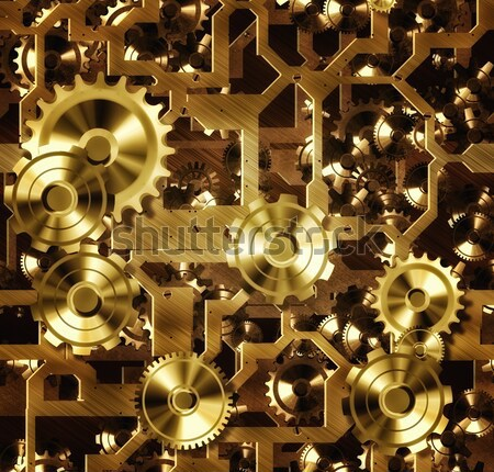 Steampunk engins illustration horloge industrie Photo stock © clearviewstock