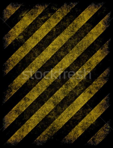 Hazard starych żółty czarny Zdjęcia stock © clearviewstock