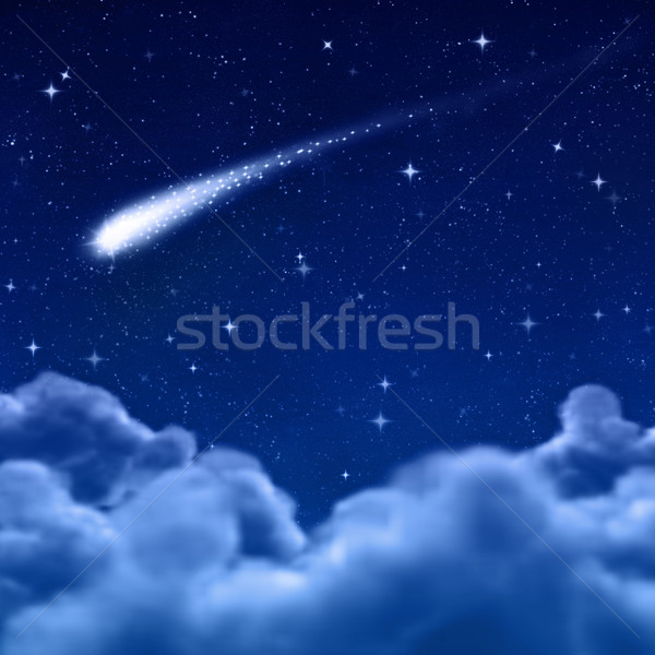space or night sky through clouds Stock photo © clearviewstock