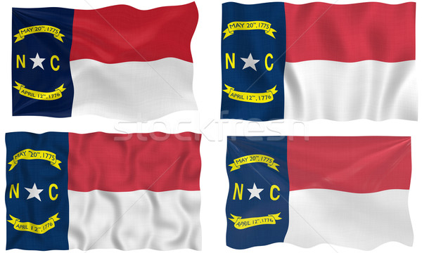 Vlag North Carolina groot afbeelding Stockfoto © clearviewstock