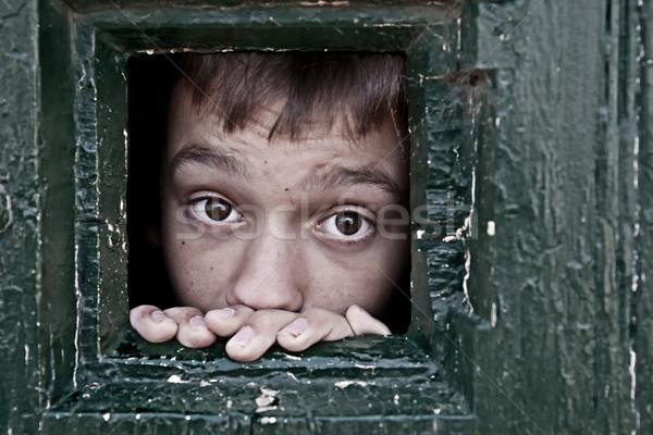 заключенный лице из тюрьму окна Сток-фото © clearviewstock