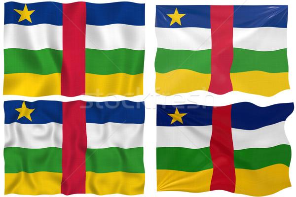 флаг центральный африканских республика изображение Сток-фото © clearviewstock