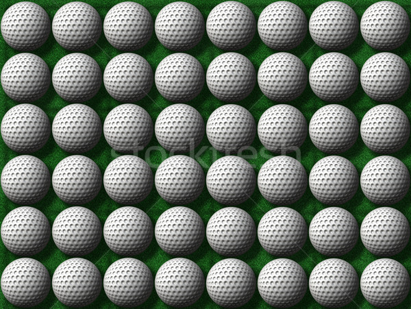 rows of golf balls Stock photo © clearviewstock