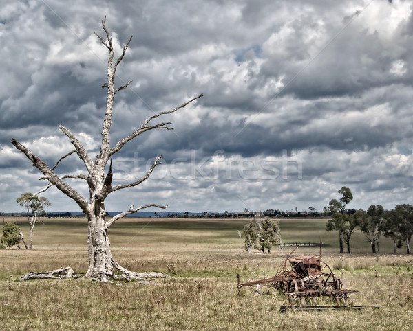 storm coming on farm Stock photo © clearviewstock