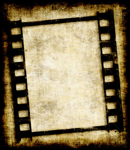 Film strip foto negative vecchio filmstrip Foto d'archivio © clearviewstock