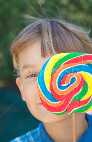 boy with lollipop Stock photo © clearviewstock
