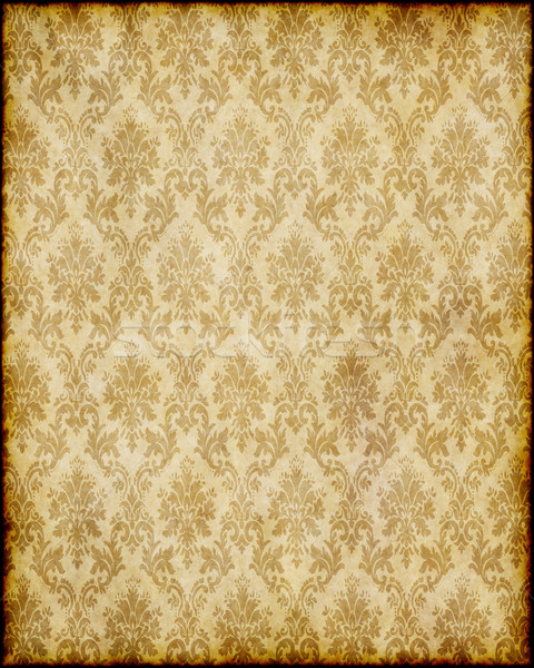 old brown damask paper Stock photo © clearviewstock