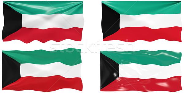 Bandiera Kuwait immagine Foto d'archivio © clearviewstock
