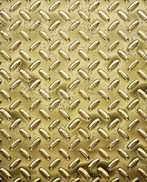 gold tread or diamond plate Stock photo © clearviewstock