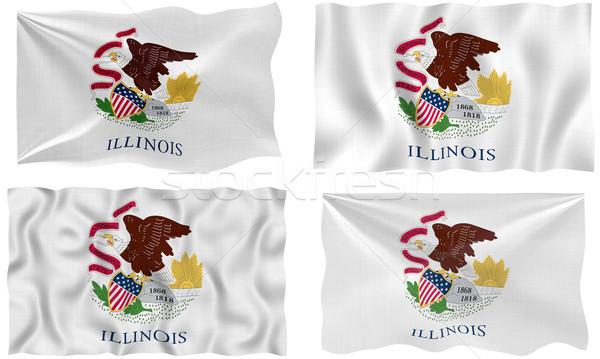 Bayrak Illinois muhteşem görüntü Stok fotoğraf © clearviewstock