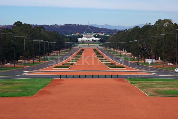 Parlement maison vue Canberra guerre politique Photo stock © clearviewstock
