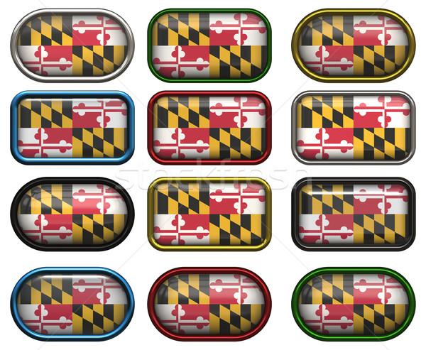 12 düğmeler bayrak Maryland oniki muhteşem Stok fotoğraf © clearviewstock