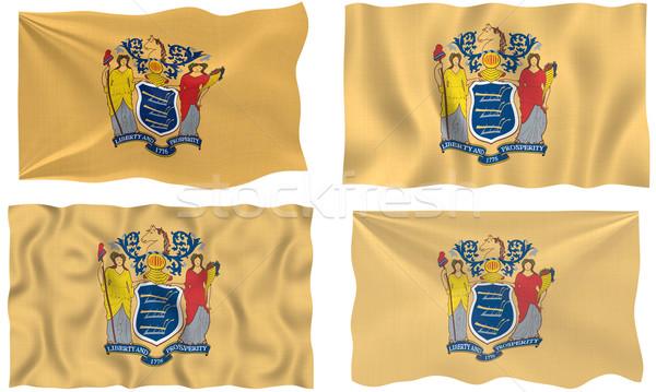Vlag New Jersey groot afbeelding Stockfoto © clearviewstock