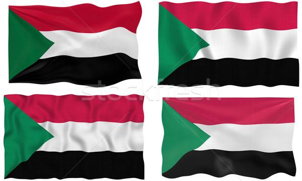 Vlag Soedan groot afbeelding Stockfoto © clearviewstock