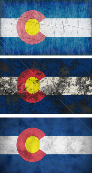 Bayrak Colorado muhteşem görüntü arka plan bağbozumu Stok fotoğraf © clearviewstock