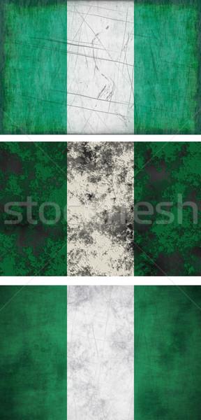Bandeira Nigéria imagem fundo sujo Foto stock © clearviewstock