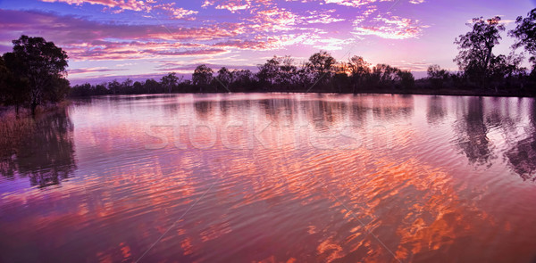 Napfelkelte folyó Dél-Ausztrália felhők naplemente gyönyörű Stock fotó © clearviewstock