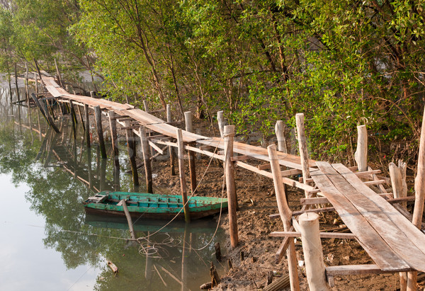 old row boat in the mud Stock photo © clearviewstock