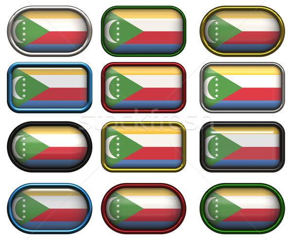 twelve buttons of the Flag of the Comoros Stock photo © clearviewstock