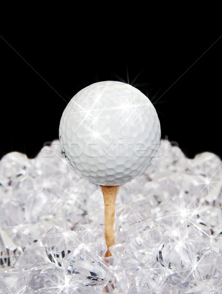 golf ball on tee in diamonds Stock photo © clearviewstock