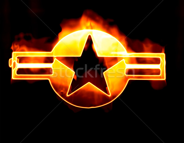 star on brushed metal Stock photo © clearviewstock