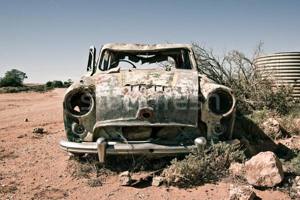 Stary samochód pustyni samochodu podziale antyczne auto Zdjęcia stock © clearviewstock