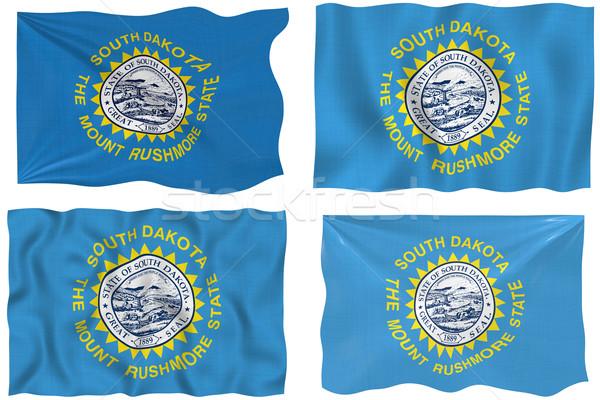 Zászló Dél-Dakota nagyszerű kép Stock fotó © clearviewstock