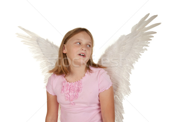 young girl with angel fairy wings Stock photo © clearviewstock