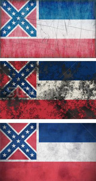 Bayrak Mississipi muhteşem görüntü arka plan kirli Stok fotoğraf © clearviewstock