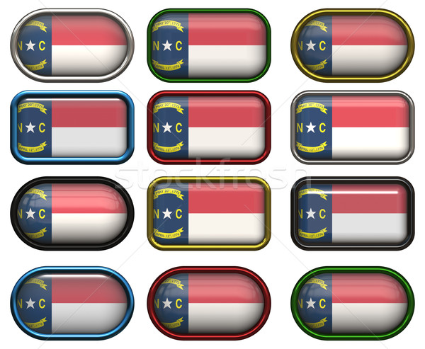 12 buttons of the Flag of North Carolina Stock photo © clearviewstock