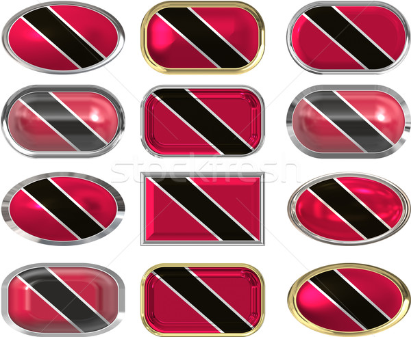 12 buttons of the Flag of Trinidad Tobago Stock photo © clearviewstock