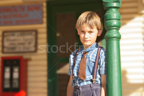 boy in front of shop Stock photo © clearviewstock