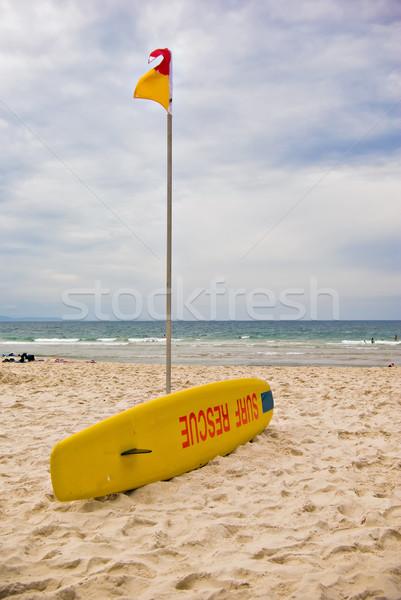 Surf rescate icónico bordo natación banderas Foto stock © clearviewstock