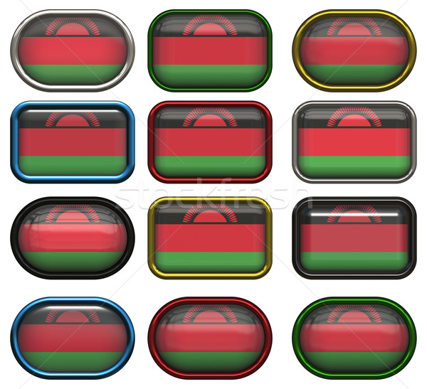 twelve buttons of the Flag of Malawi Stock photo © clearviewstock
