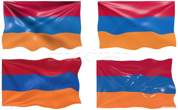 フラグ アルメニア 画像 ストックフォト © clearviewstock