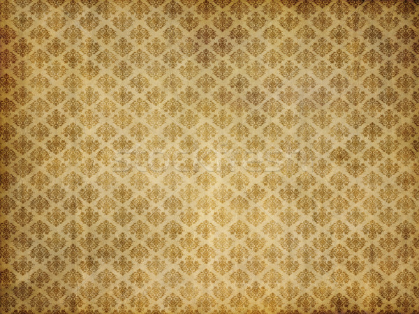 Vintage дамаст обои старые коричневый желтый Сток-фото © clearviewstock