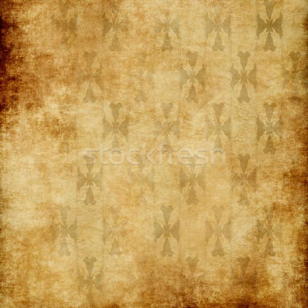 Stock fotó: öreg · tapéta · fal · kép · koszos · papír