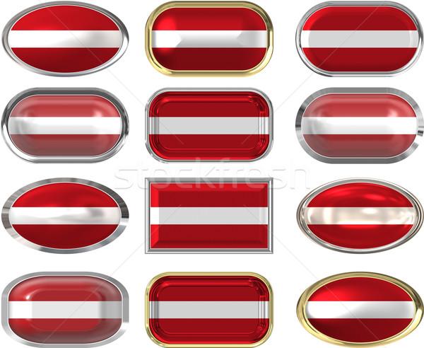 12 gombok zászló Lettország tizenkettő nagyszerű Stock fotó © clearviewstock
