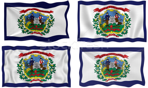 Vlag West Virginia groot afbeelding Stockfoto © clearviewstock